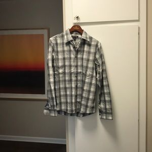 Michael Kors Grey Plaid Button Down
